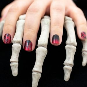 2/$20 color street nails Material ghoul black red